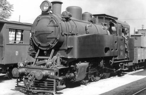 ST.S.001  Η ΑΤΜΑΜΑΞΑ 42 ΣΤΟΝ Σ.Σ.ΒΟΛΟΥ(ΦΩΤΟ A.LUFT 3/8/1959)