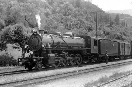 SP.S.013Η Δ103 ΣΤΟΝ Σ.Σ.ΑΙΓΙΟΥ(ΦΩΤΟ H.SCHNEEBERGER 4/6/1963)